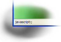 Status bar screenshot with the text 'javascript:;'