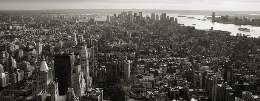 Manhattan, looking downtown from the 86th floor of the Empire State Building, NYC