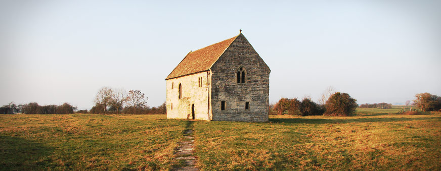 14th century Abbot's Fish House near Meare, Somerset, UK